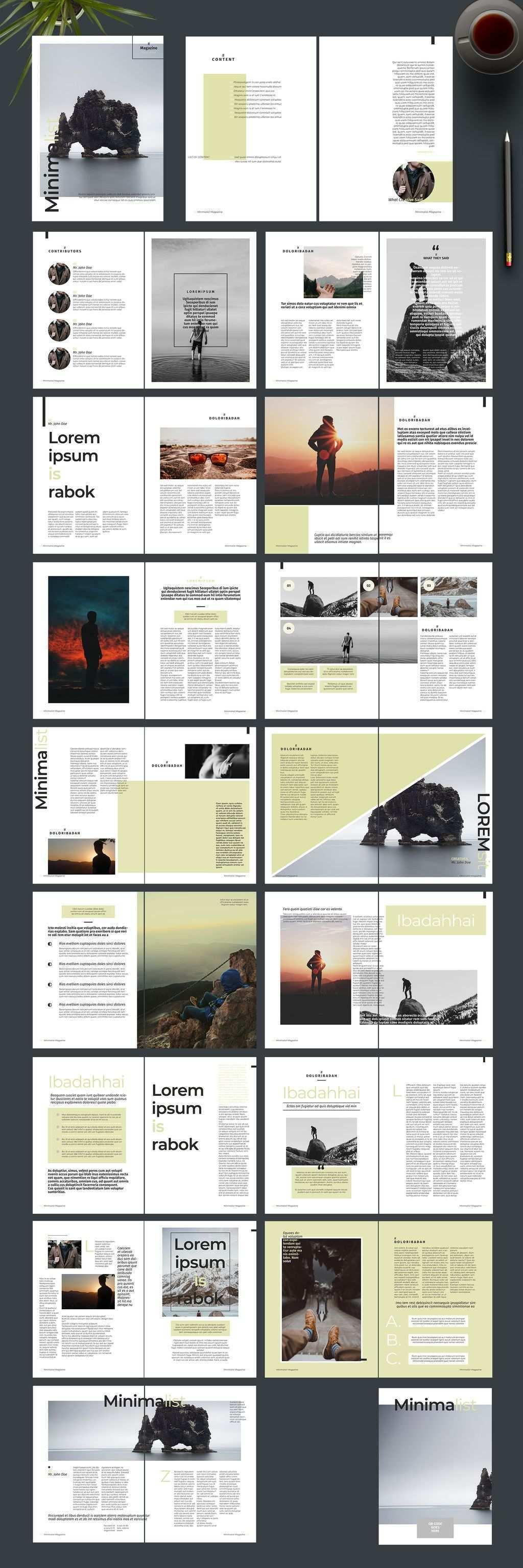 Magazine Layout With Green Accents Kaufen Sie Diese Vorlage Und Finden Sie Ahnliche Vorlagen Auf Adobe Stock Adobe Stock Vorlagen Layout Wolle Kaufen