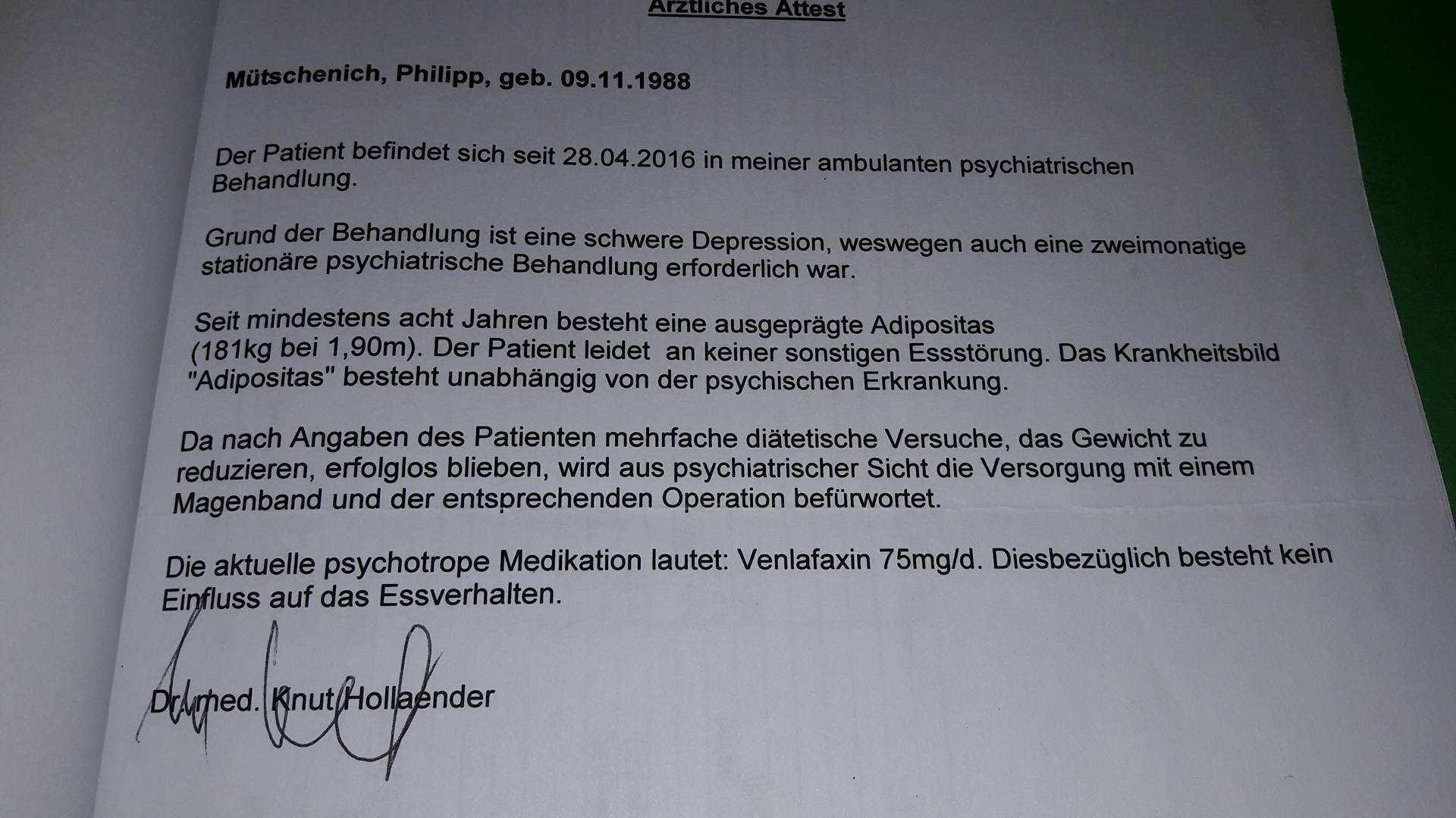 Psychologisches Gutachten Allgemeines Adipositas24 Community