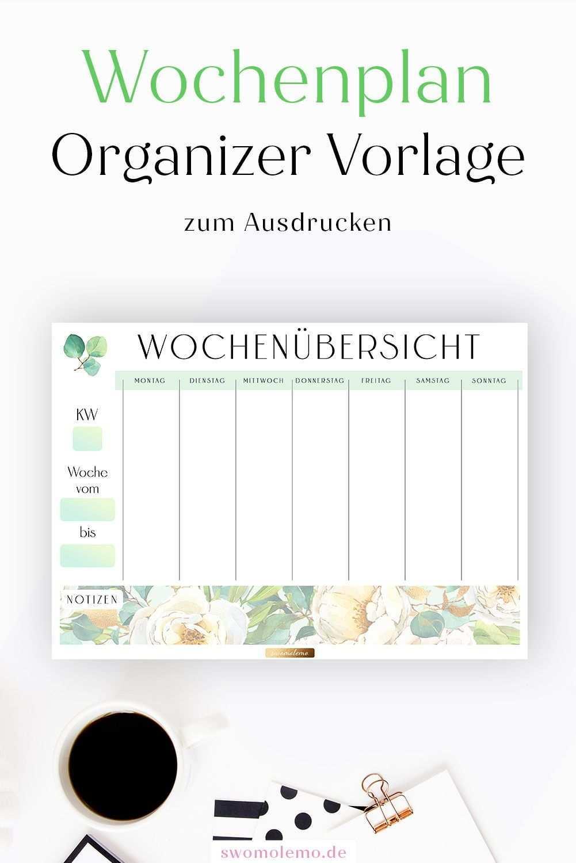 Wochenplan Vorlage Zum Ausdrucken Bullet Journal Einlage Pdf Deutsch Planer Vorlagen Wochenplan Zum Ausdrucken Ausdrucken