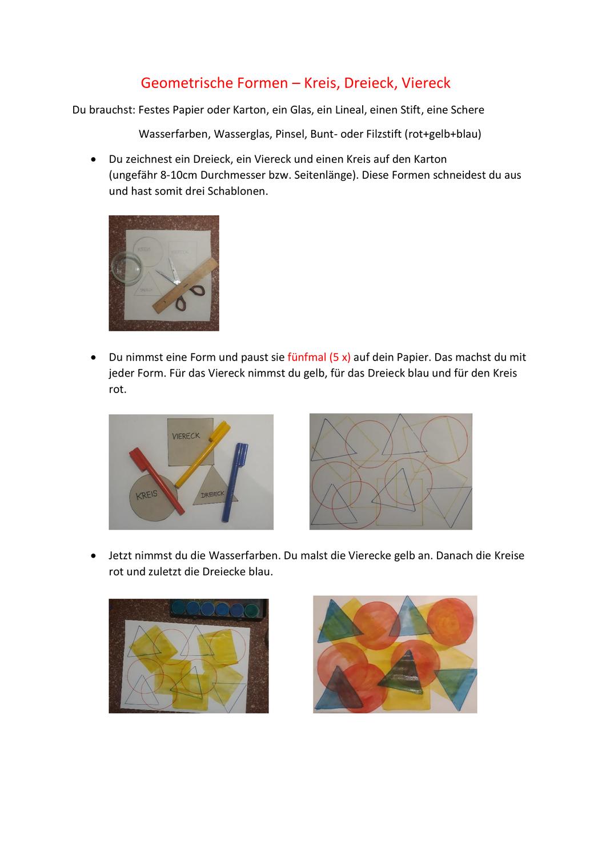 Geometrische Formen Unterrichtsmaterial In Den Fachern Kunst Mathematik Geometrische Formen Geometrisch Formen