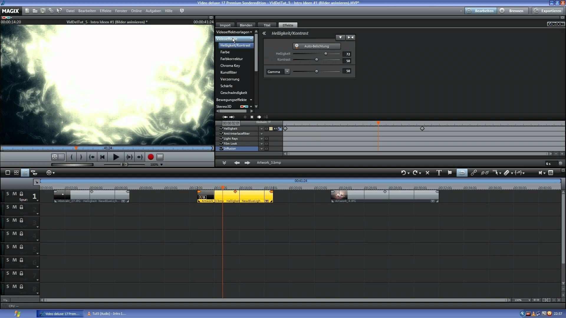 Intro Erstellen 1 Bilder Animieren Magix Video Deluxe 17 Premium Tut Intro Erstellen Gestalten Bilder