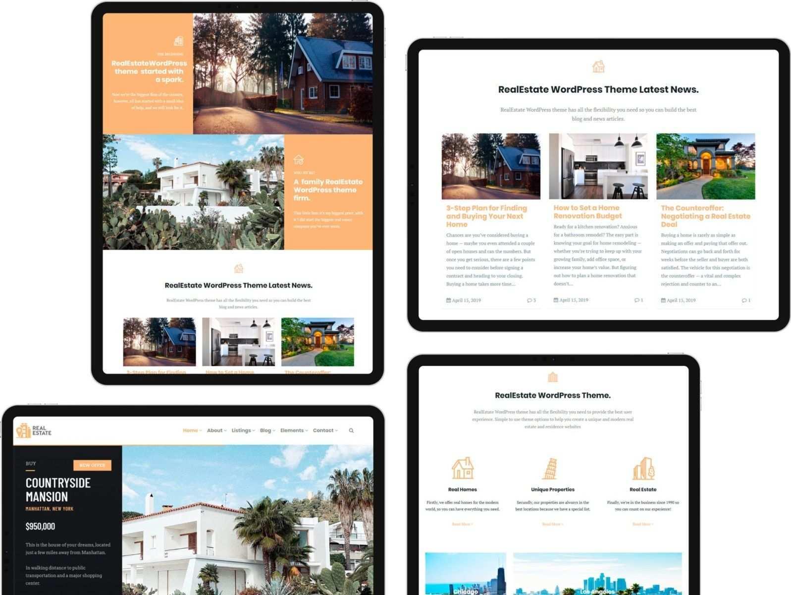 Tabled View Realestate Wordpress Theme Em 2020