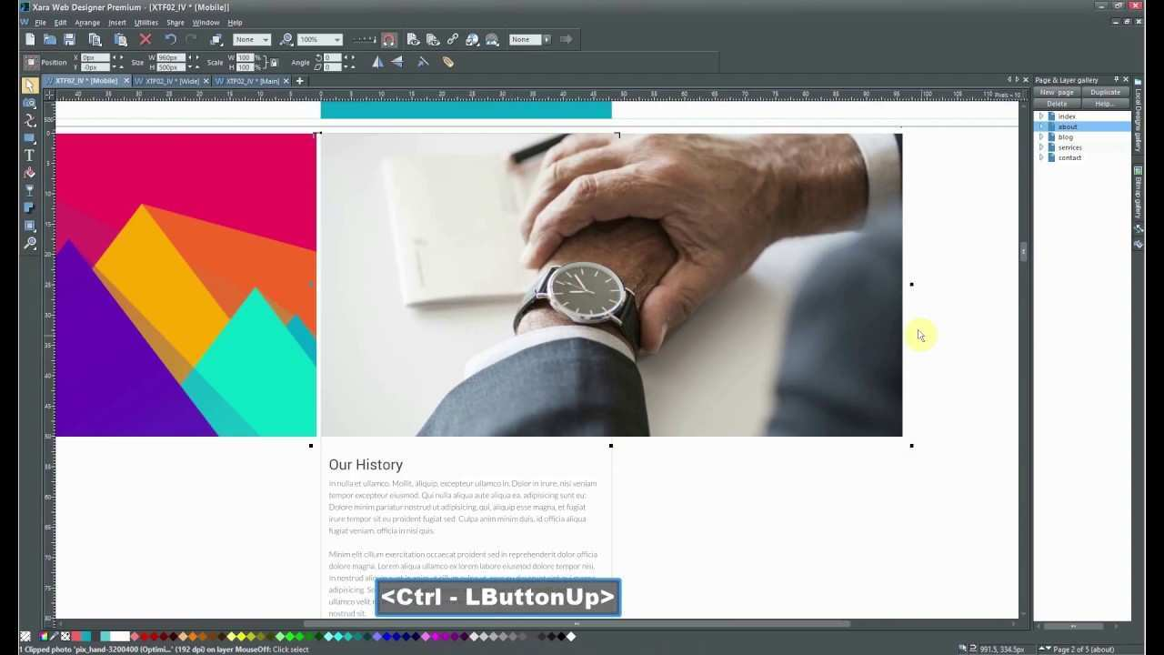 Editing Xara Web Template Different Header On Every Page Xara Web Designer Youtube