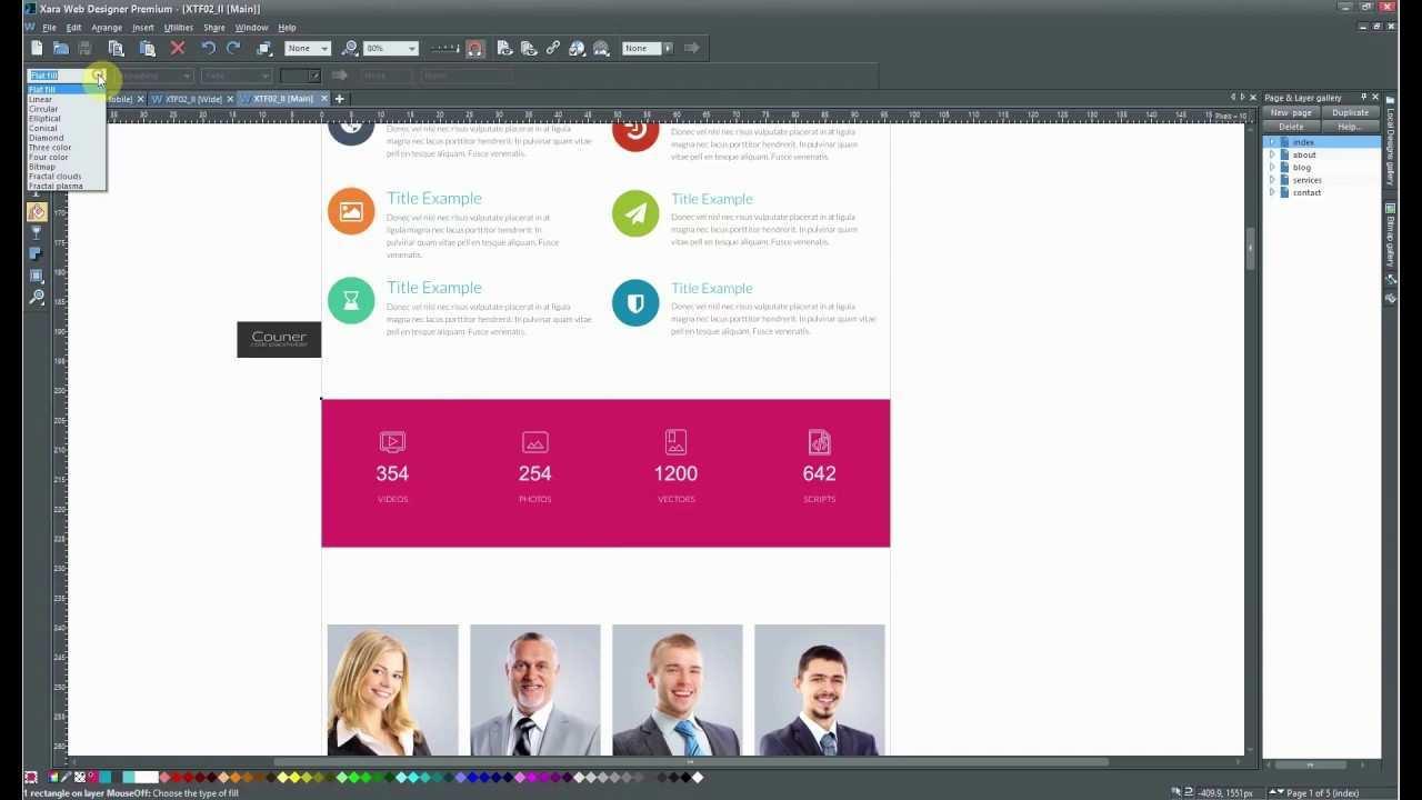 How To Change Full Width Block Background Type In Xara Web Designer Youtube