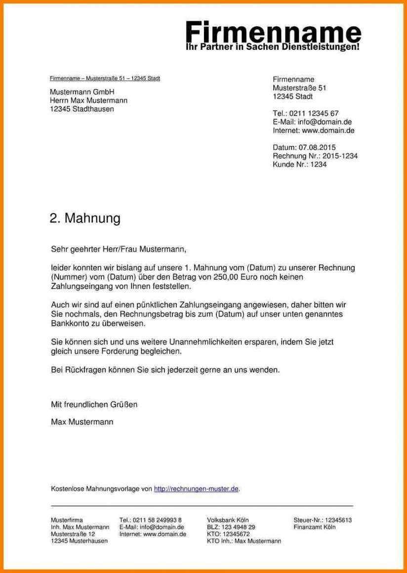 Exklusiv Zahlungserinnerung Schreiben Vorlage Rechnung Vorlage Vorlagen Geschaftsbrief
