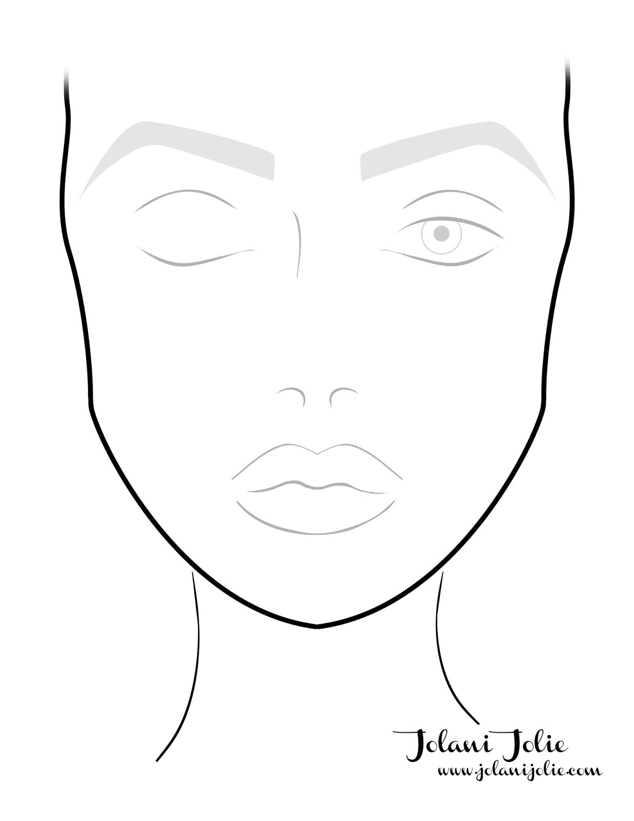 Aida Yanza Makeup Profesional En Formacion En Vongea Makeup School Makeup Face Charts Face Chart Makeup Charts