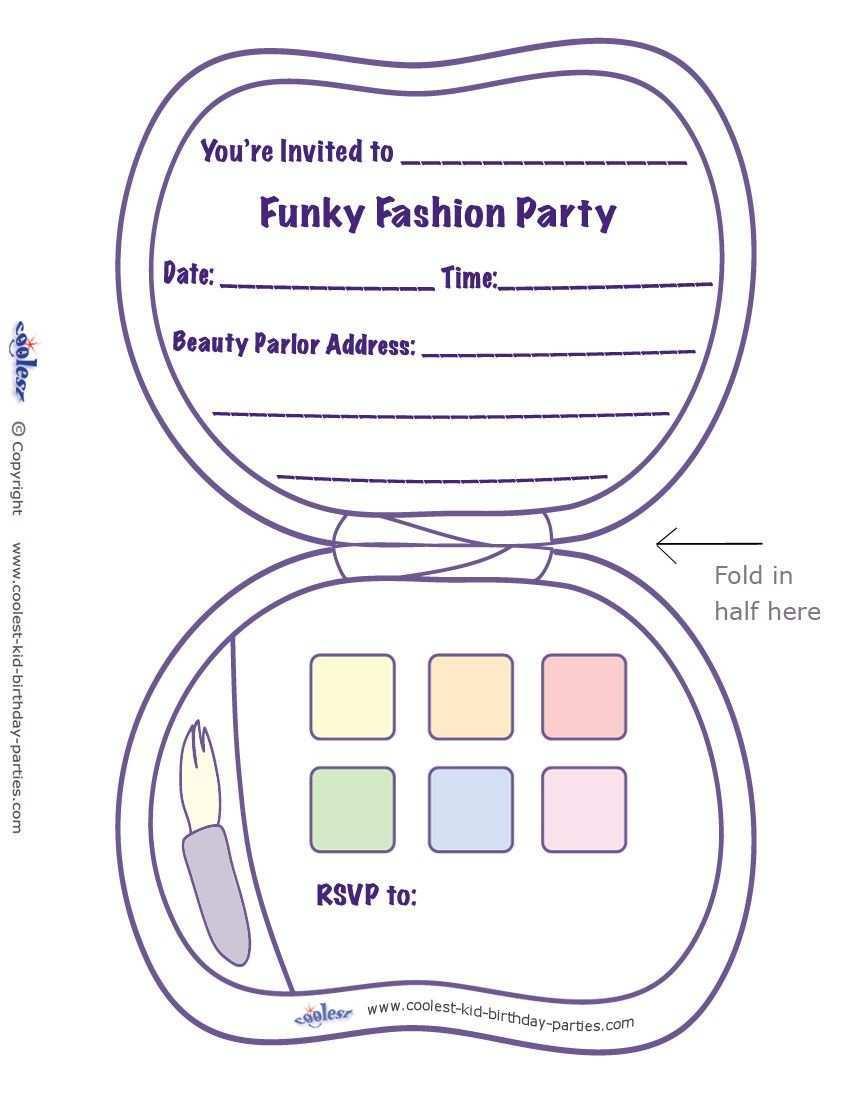Printable Fashion Makeup Invitation Spa Party Invitations Party Invite Template Minion Party Invitations