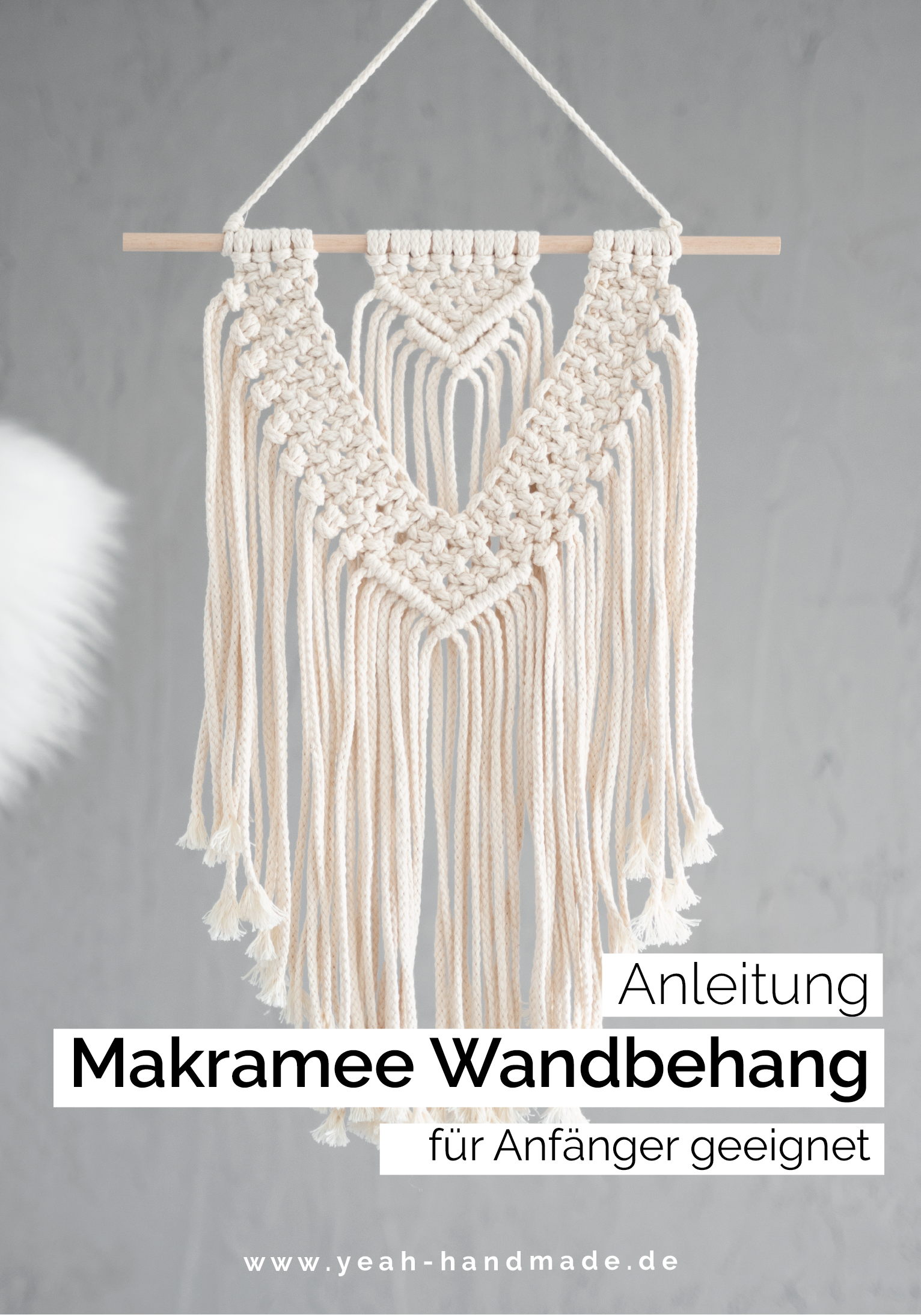 Diy Macrame Instructions Wall Hanging Pdf Guide Step By Step Make Decoration Or Gift Yourself Learn Macrame In 2020 Makramee Anleitung Wandbehang Wandbehang Makramee Anleitung
