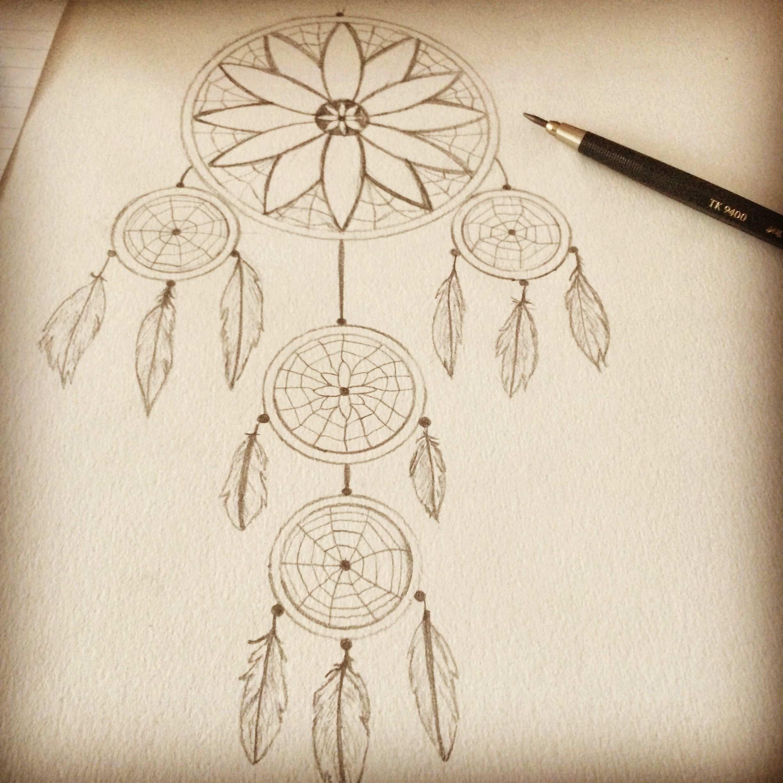 Traumfanger Selbst Gezeichnet Bleistift Zeichnung Papier Dreamcatcher Drawing Traumfanger Zeichnung Zeichnungen Zeichnen