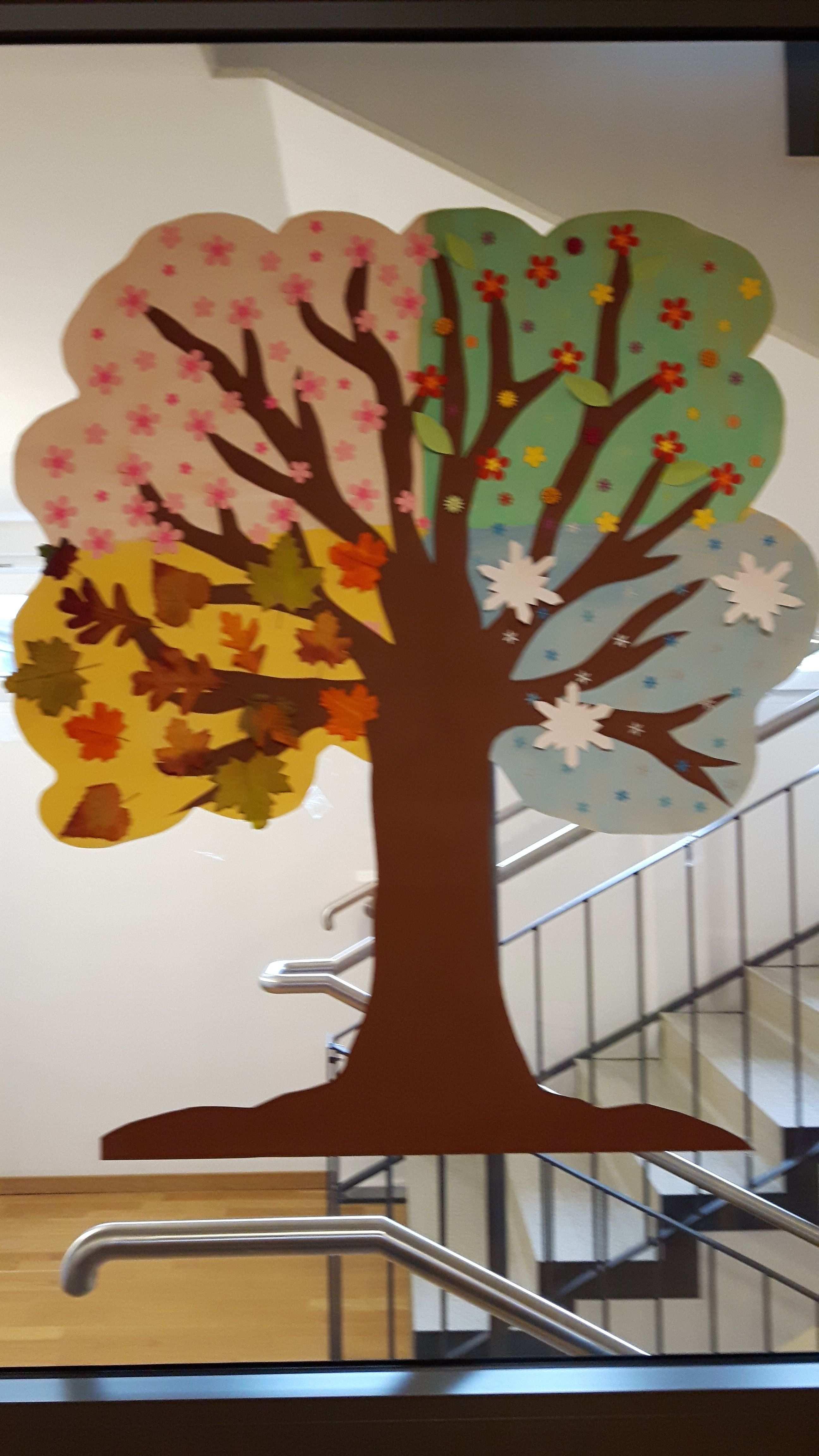 Jahreszeitenbaum Gestaltet Von Und Mit Demenzkranken Geburtstagskalender Kita Basteln Jahreszeitenbaum Geburtstagskalender Basteln