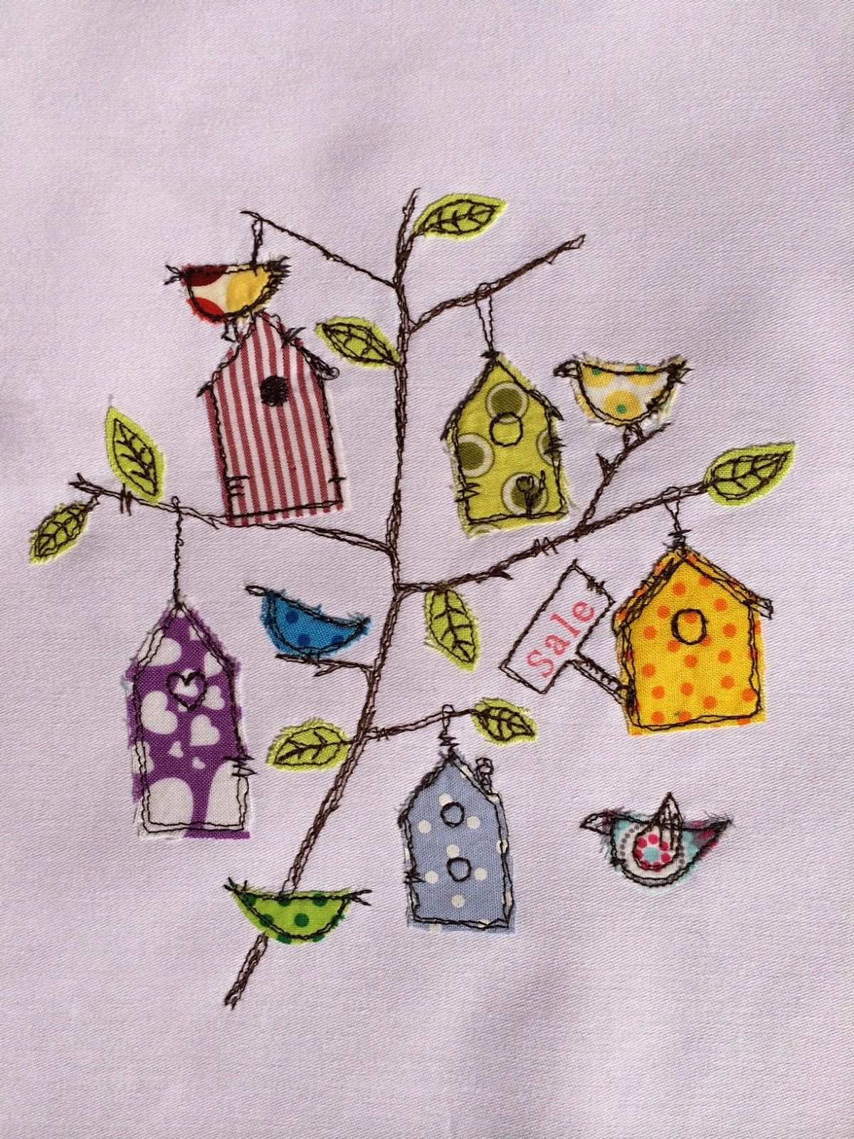 Nahmalen 2 0 Birdie House Doodle Free Motion Embroidery Freehand Machine Embroidery Free Motion Embroidery Designs