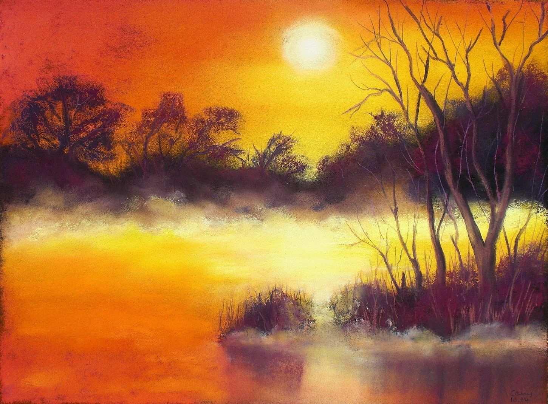 Mit Den Soft Pastellkreiden Male Ich Am Liebsten Stimmungsvolle Landschaften Und Wolkenformationen Es Ist Immer Pastell Malerei Pastell Kreide Kreide Gemalde
