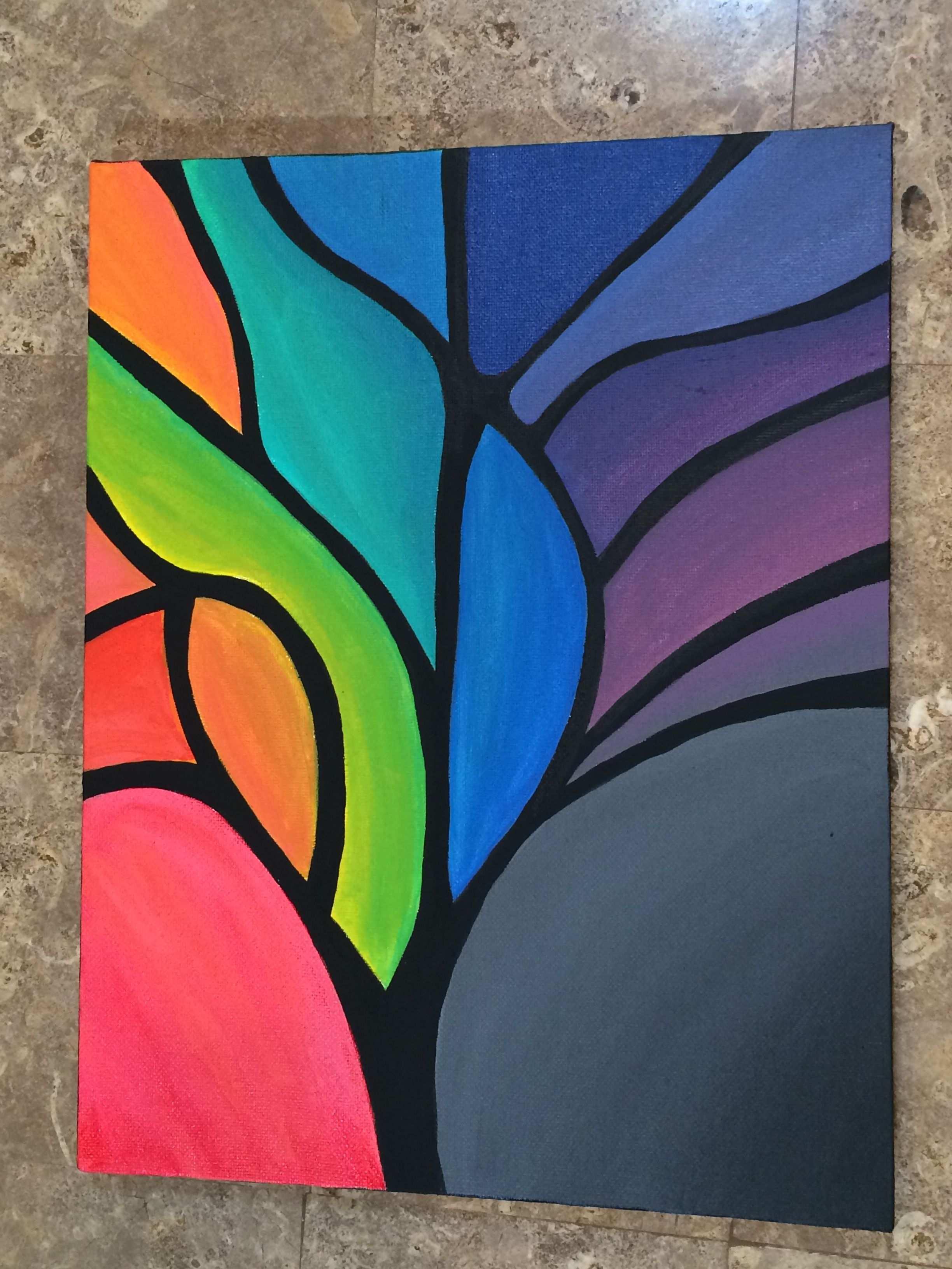 Abstract Tree Painting Abstract Tree Painting Abstract Canvas Painting Abstract Painting Acrylic