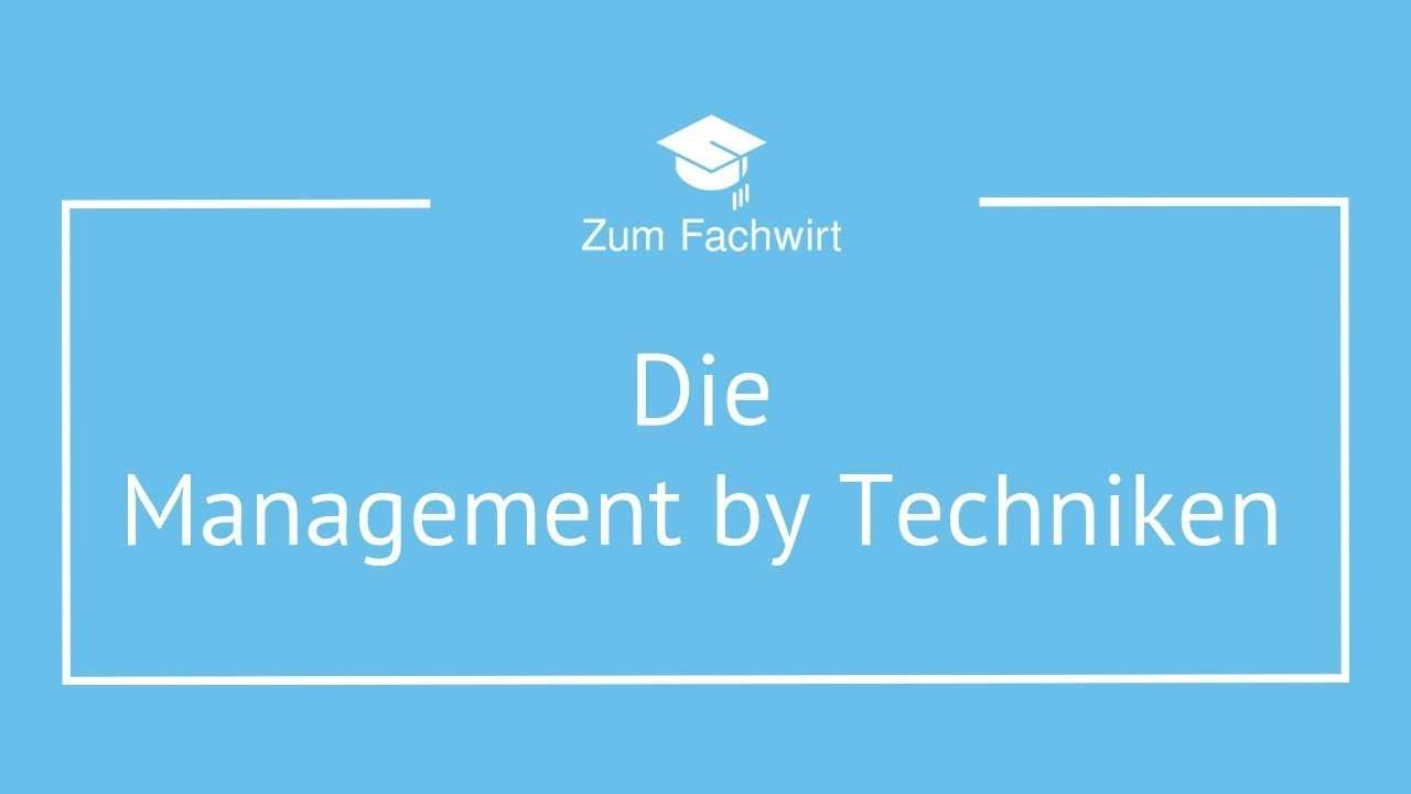 Management By Techniken Delegation Exception Objectives Systems Youtube