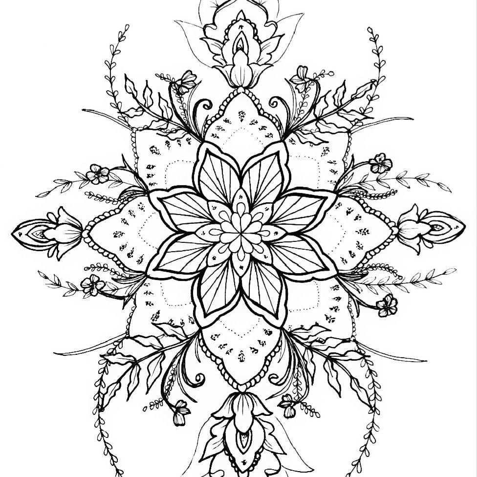 Mandala Tattoo Design Flower Nature Vorlage Tattooart Dotwork Mandalatattoo Mandala Vorlagen Blumen Vorlage Blumen Tattoos