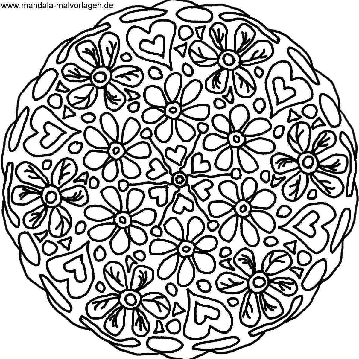 Ausmalbild Blumen Mandala Malvorlage Jpg 1200 1200 Malvorlagen Malvorlagen Blumen Ausmalen