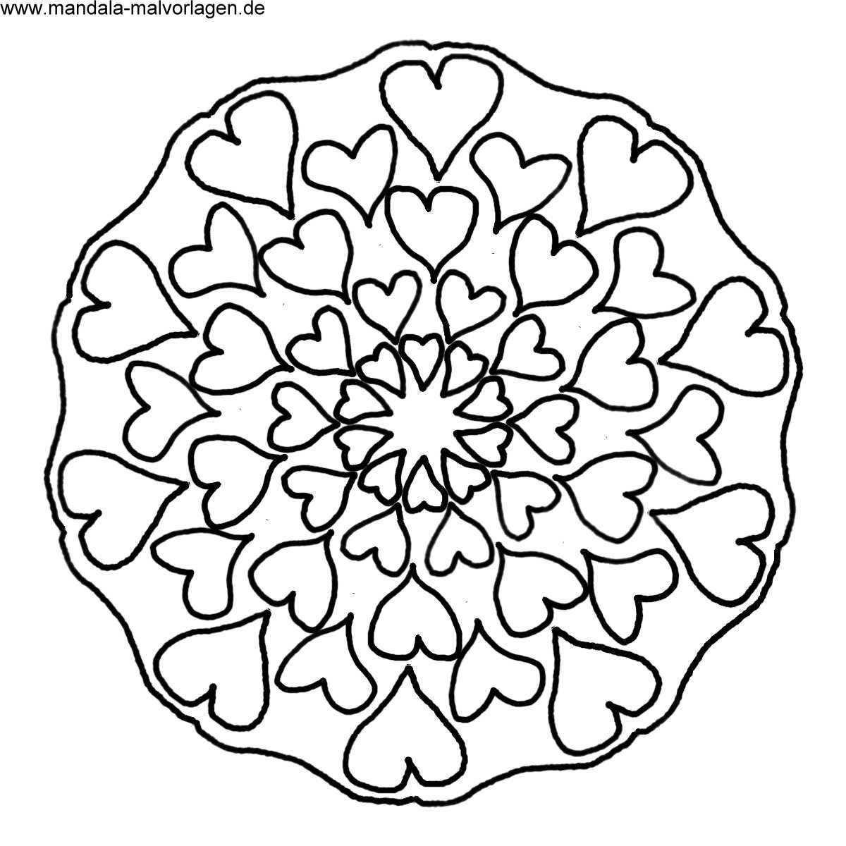 Herzen Mandala Malvorlage Jpg 1200 1200 Mandala Coloring Drawings Blank Coloring Pages