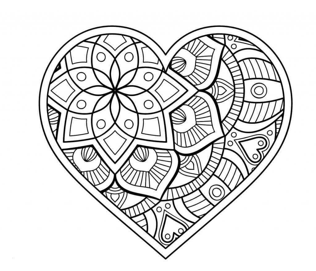 Herz Ausmalen Coloring Coloringpagesforkids Kinder Erwachsenen Malvorlagen Painting Kids Herz Ausmalbild Mandala Malvorlagen Mandala Zum Ausdrucken