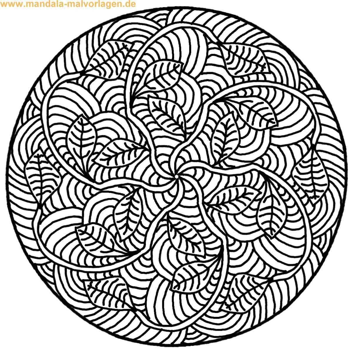 Ausmalbilder Mandala Schwer In 2020 Mandala Coloring Pages Mandala Coloring Leaf Drawing