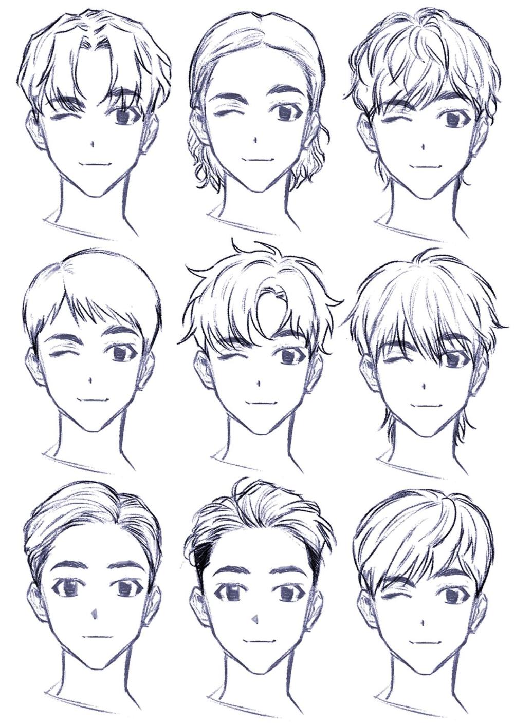 Cabelos Para Personagens Pesquisa Google Em 2020 Desenho De Rosto Desenho De Cabelo Masculino Cabelo Masculino Anime
