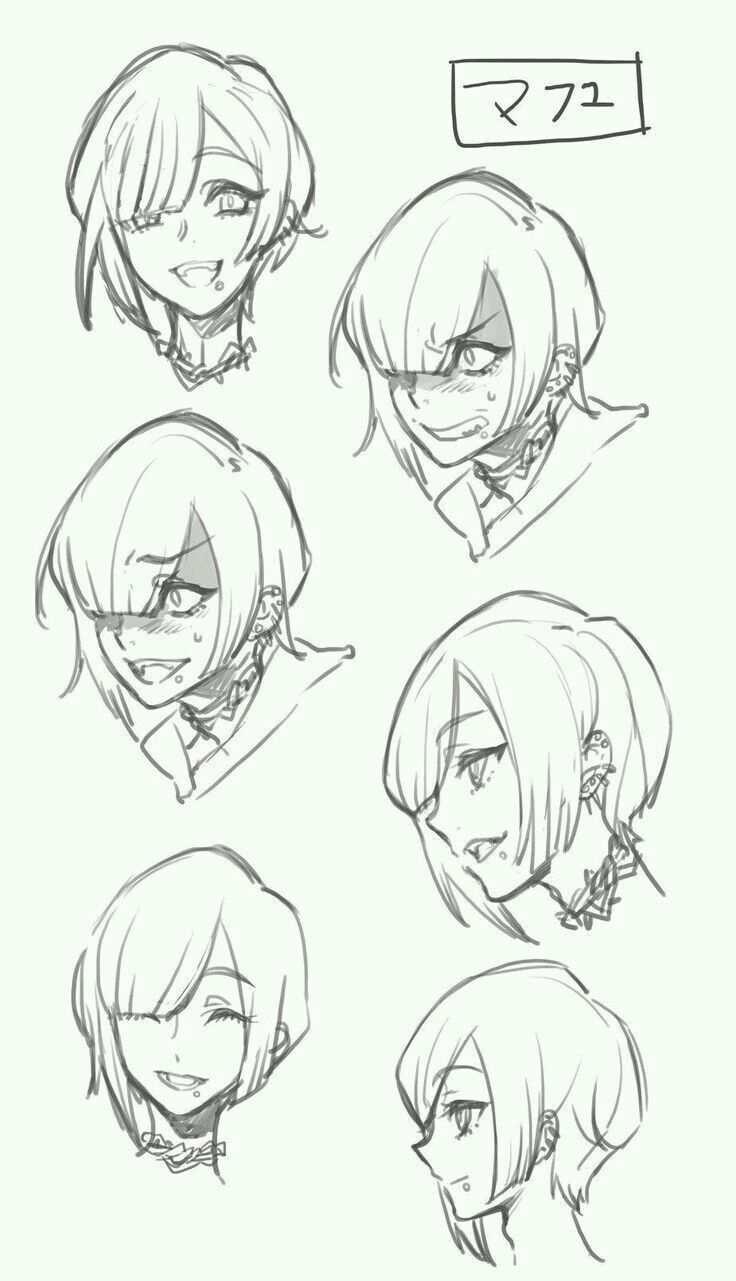 I Like This Hair Style En 2020 Bocetos Dibujos De Peinados Cabello Manga
