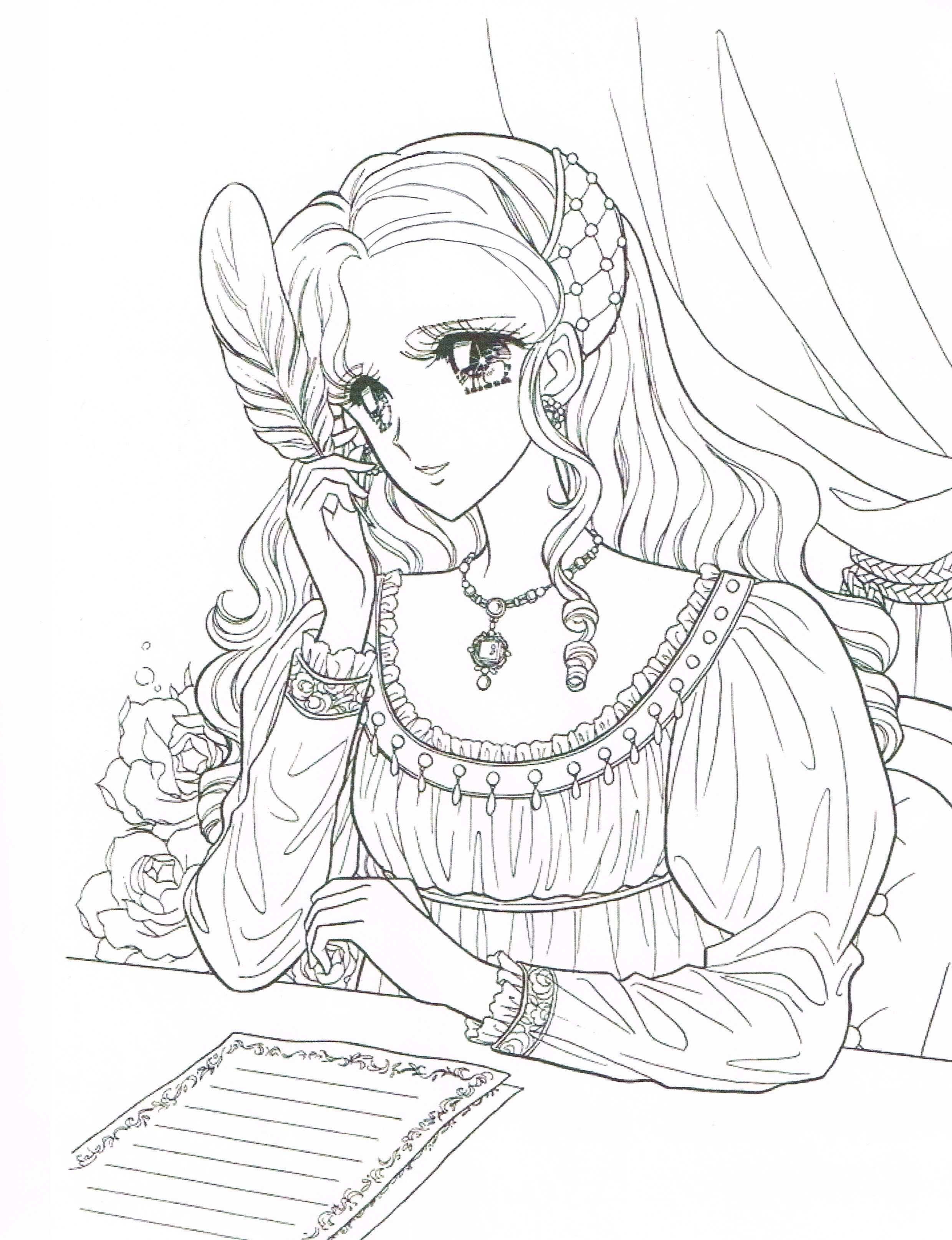 Princess World Coloring Page Italian Renaissance Manga Girl Coloringpage Coloring Printable Manga Princ Coloring Books Cute Coloring Pages Coloring Pages