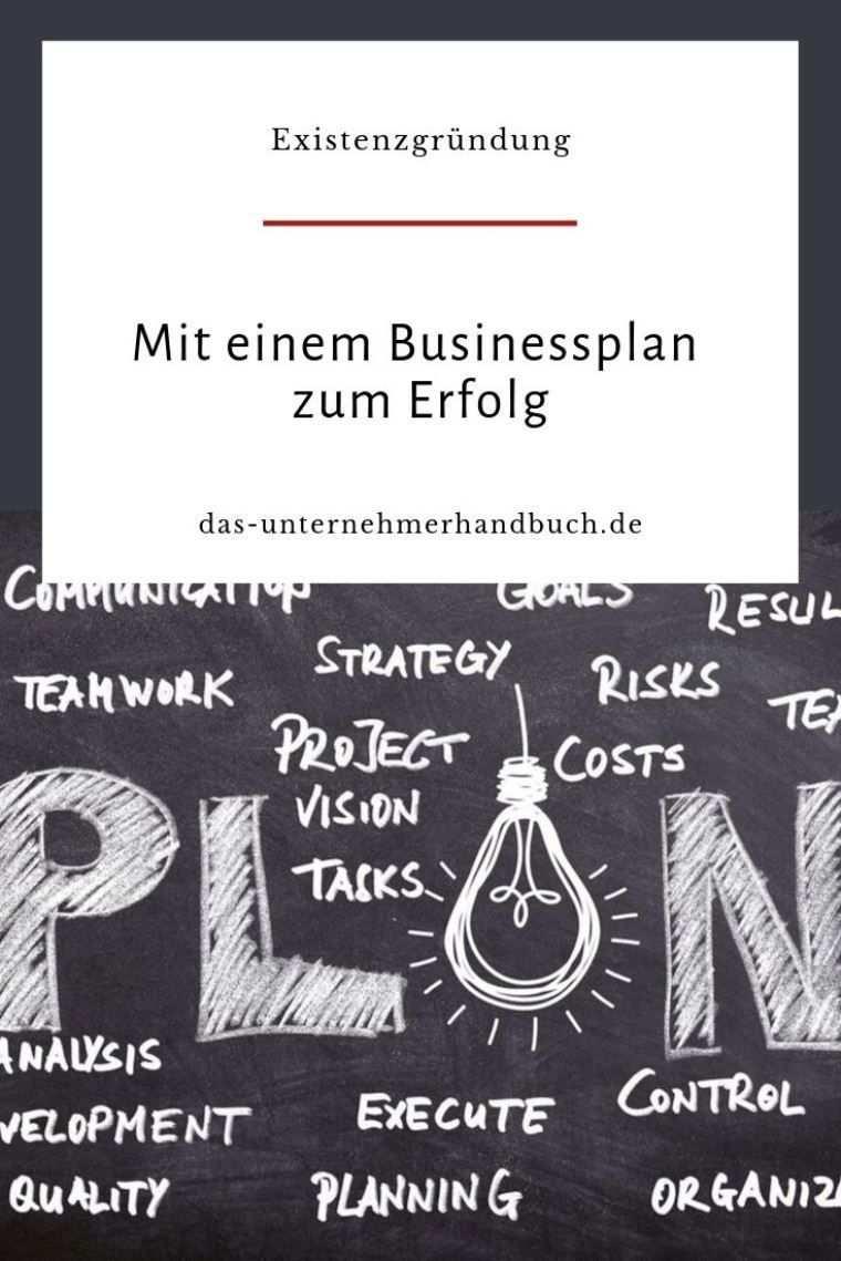 Mit Einem Businessplan Zum Erfolg In 2020 Businessplan Businessplan Vorlage Planer