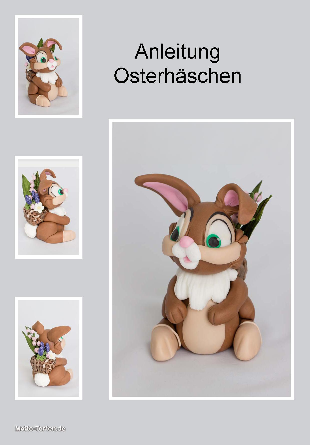 Anleitung Osterhaschen Aus Fondant Fondant Figuren Anleitung Torten Figuren Marzipan Figuren Anleitung