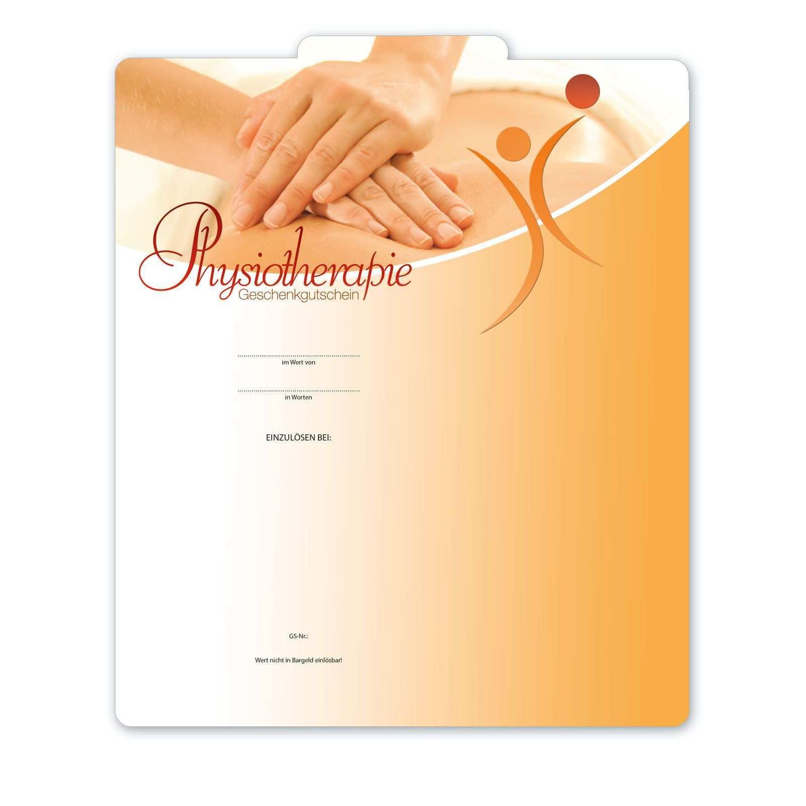 Multicolor Gutschein Ma242 Fur Physiotherapie Gutscheine Gutschein Vorlage Massage Gutschein
