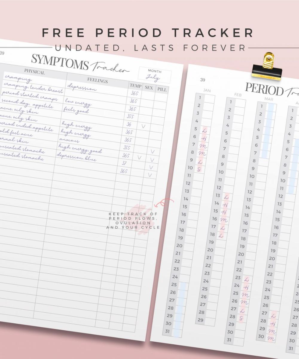 Free Goods Printable Period Tracker Set Paperly Planners Period Tracker Period Tracker Free Tracker Free