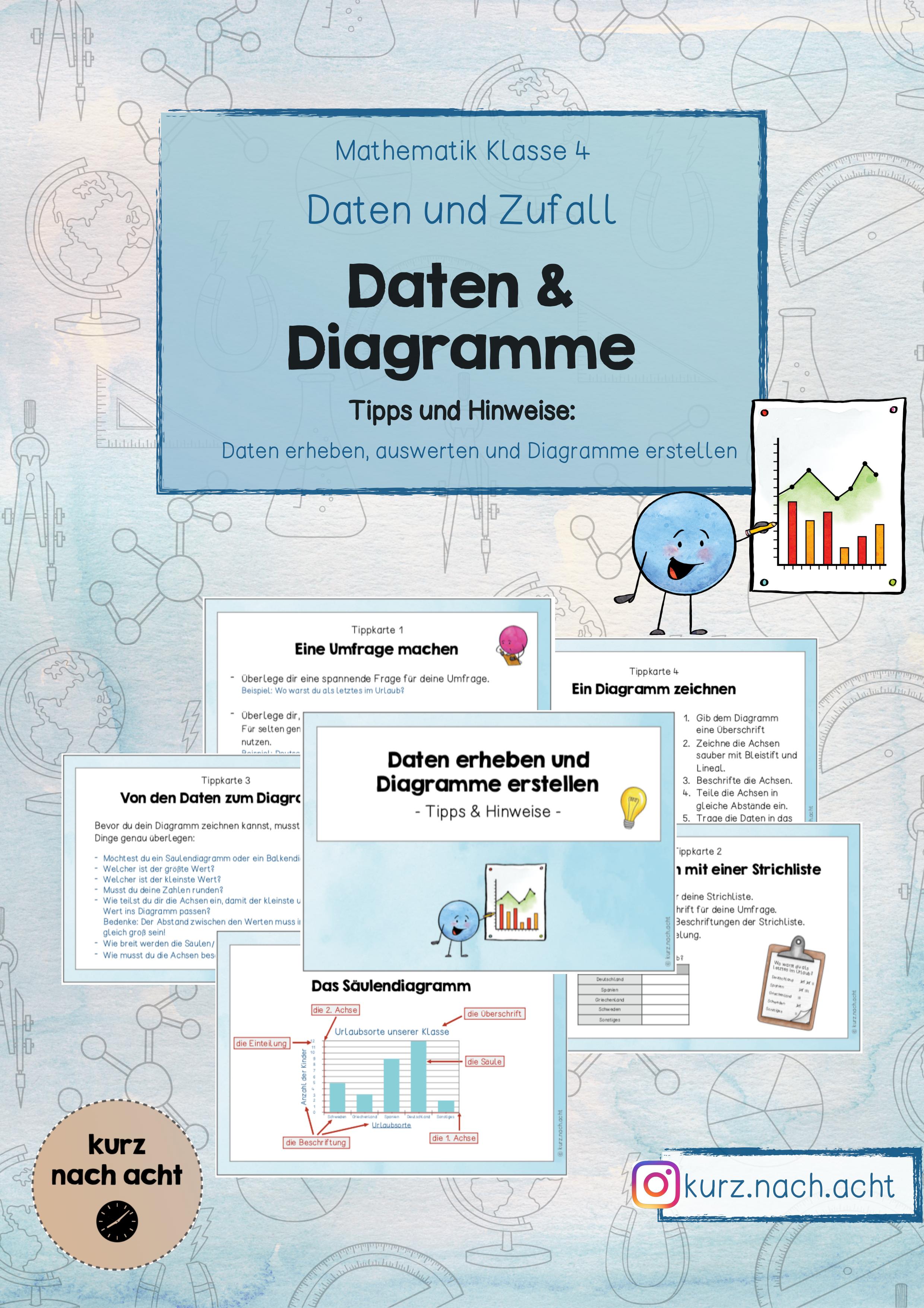 Tippkarten Daten Und Diagramme Klassenarbeiten Mathe Klassenzimmer Gestalten Grundschule Diagramm Erstellen