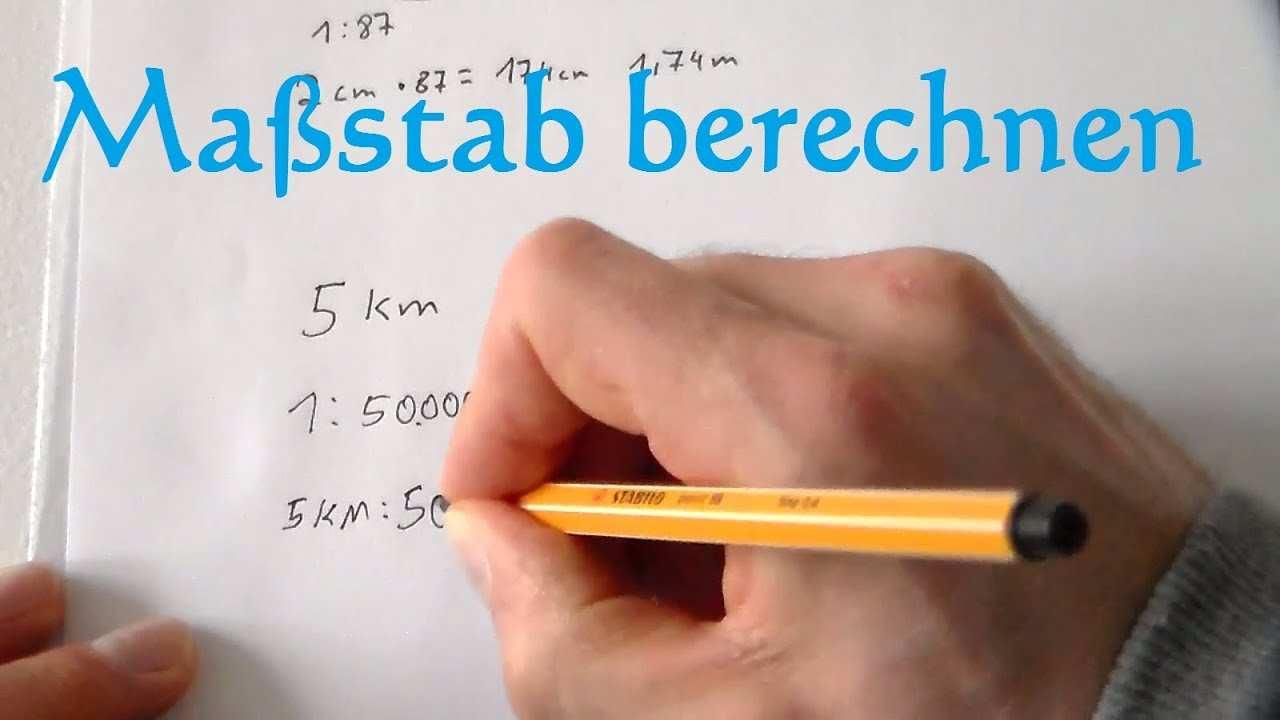 Massstab Berechnen Und Massstab Umrechnen Mathe Anleitung Massstabe Rechnen Mathematik Youtube