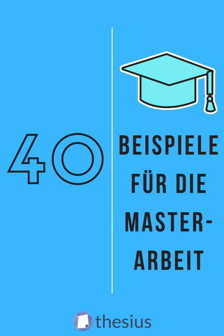 Beispiele Fur Die Masterarbeit Hausarbeit Schreiben Master Thesis Master