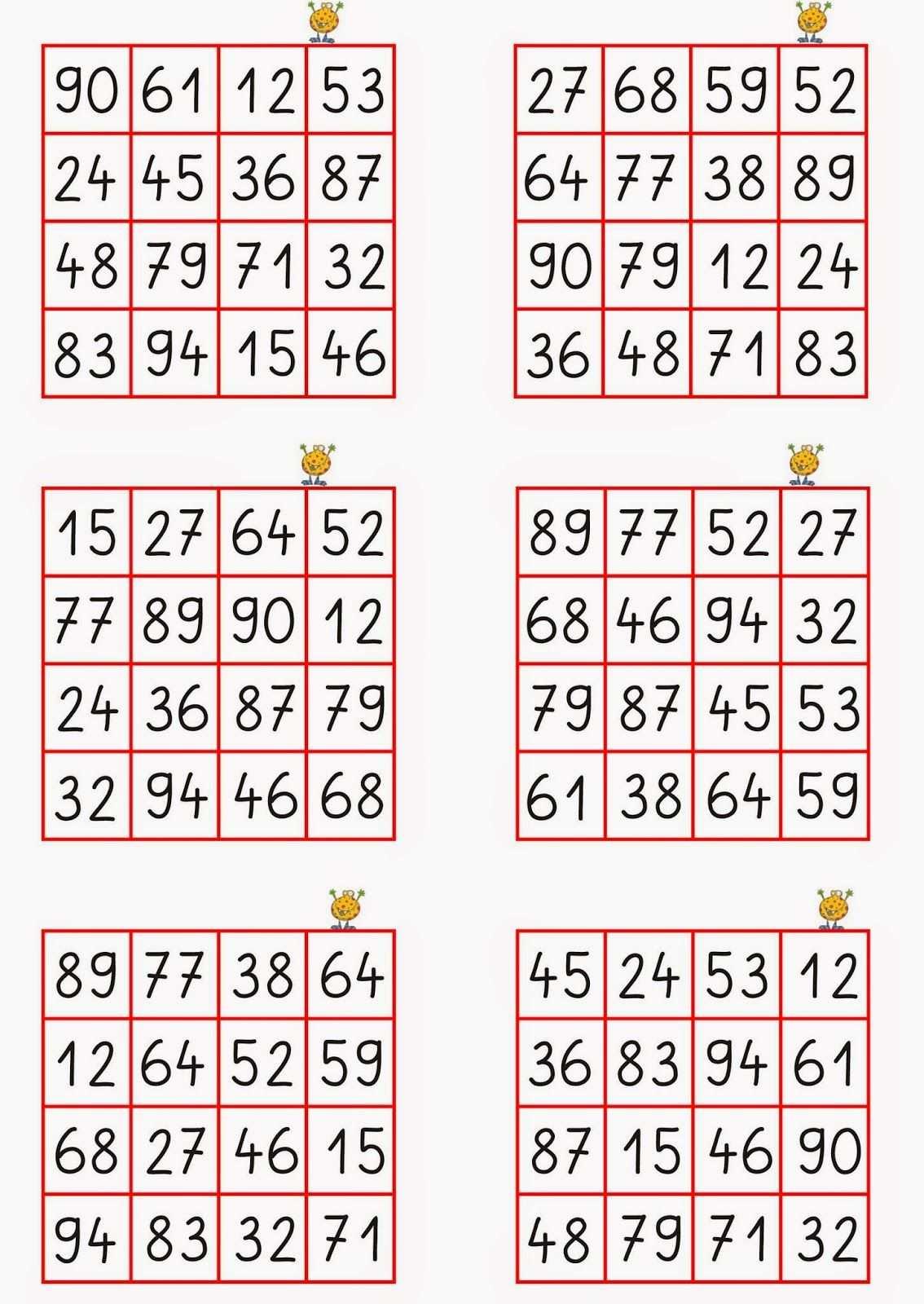Kreatives Material Fur Die Grundschule Bingo Vorlage Bingo Microsoft Word