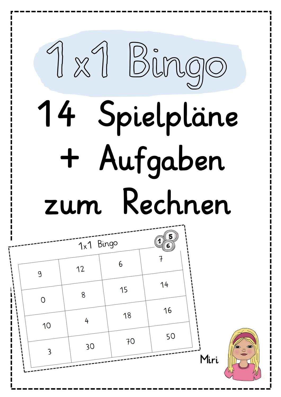 1x1 Bingo Spiel Fur Die Grundschule Unterrichtsmaterial Im Fach Mathematik Bingo Bingo Vorlage Bingo Spiele