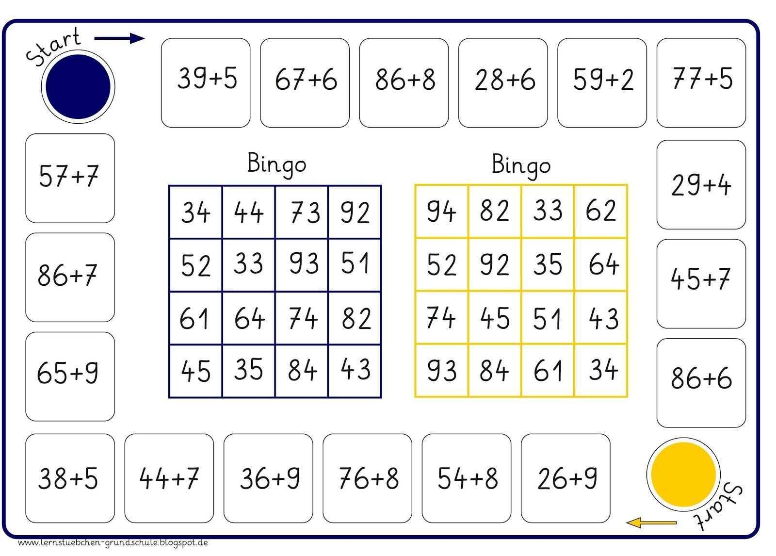 Pin Von Laura Berger Auf San Bingo Spiele Mathe Lernen