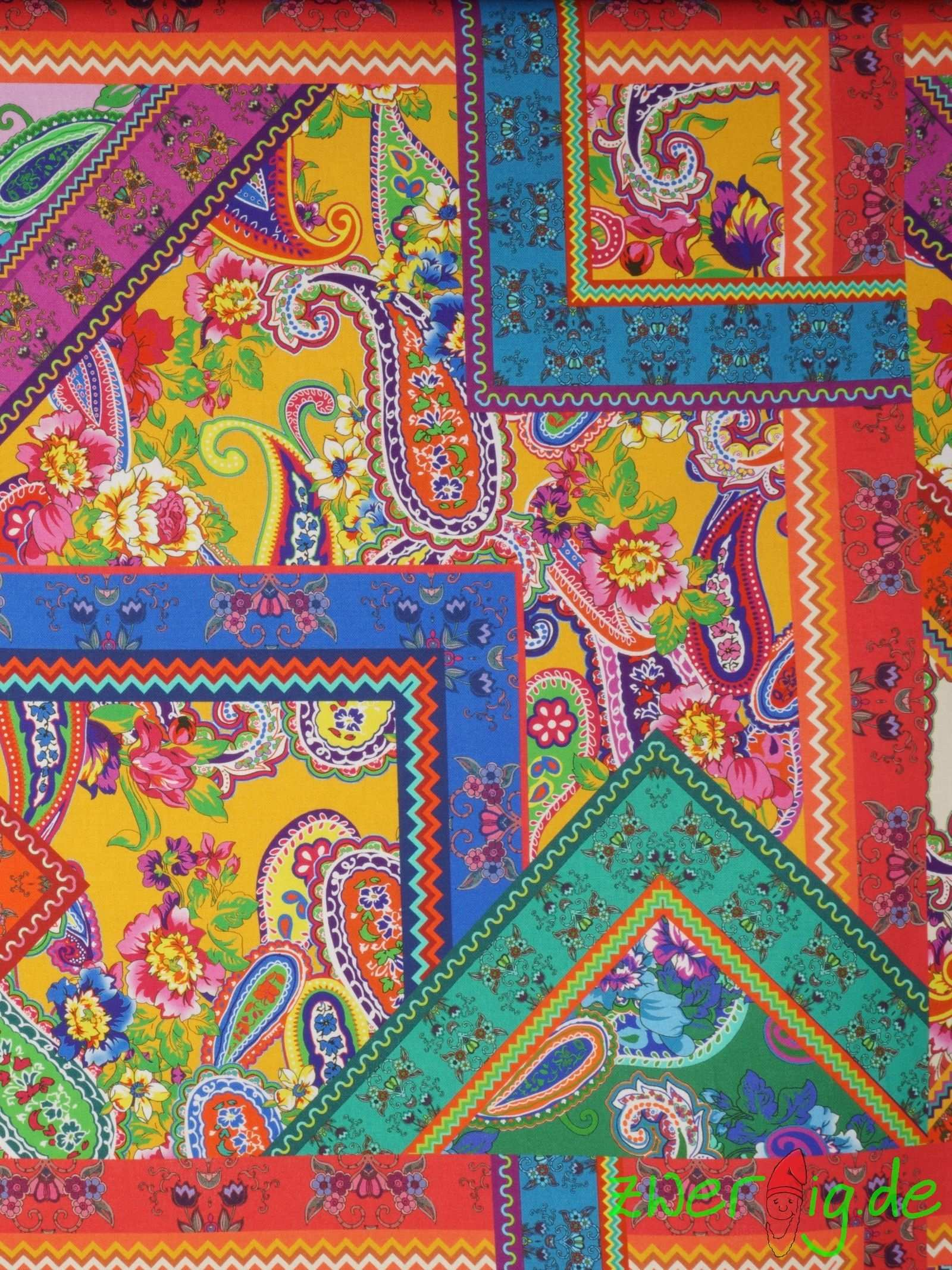 Feste Baumwolle Stoff Bunt Paisley Folklore 100 Pure Cotton Quilts Blanket