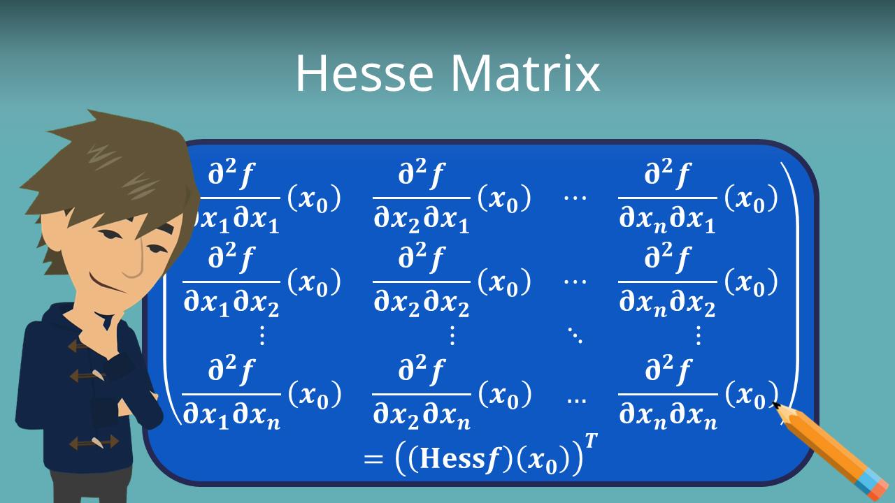 Hesse Matrix Berechnung Anwendung Mit Video