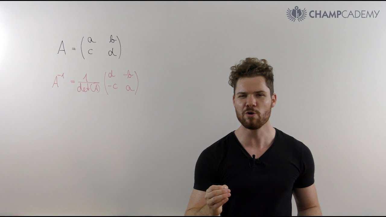 2x2 Matrix Inverse In Sekunden Youtube