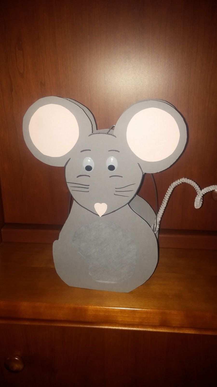 Mauslaterne Laternen Basteln Maus Handwerk Maus Basteln