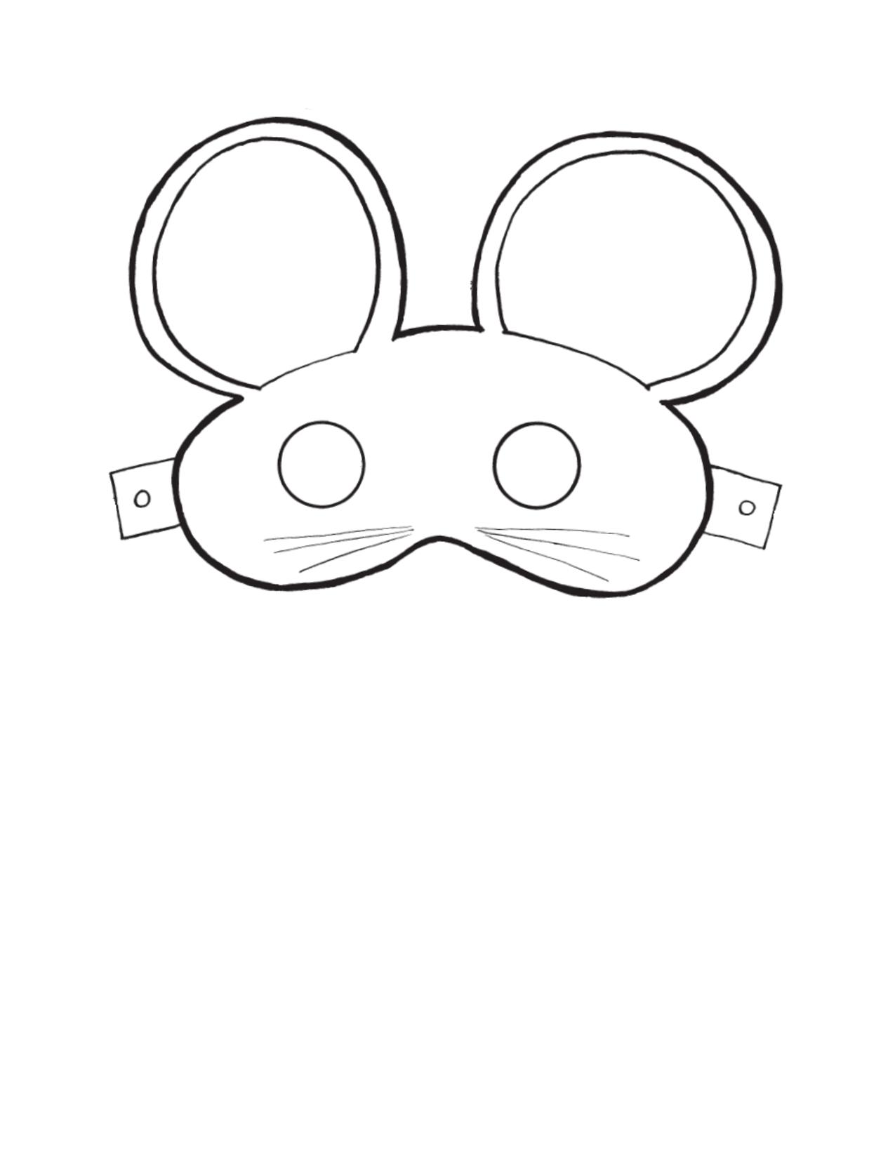 Mouse Mask Template Masken Basteln Masken Vorlage Tiermasken