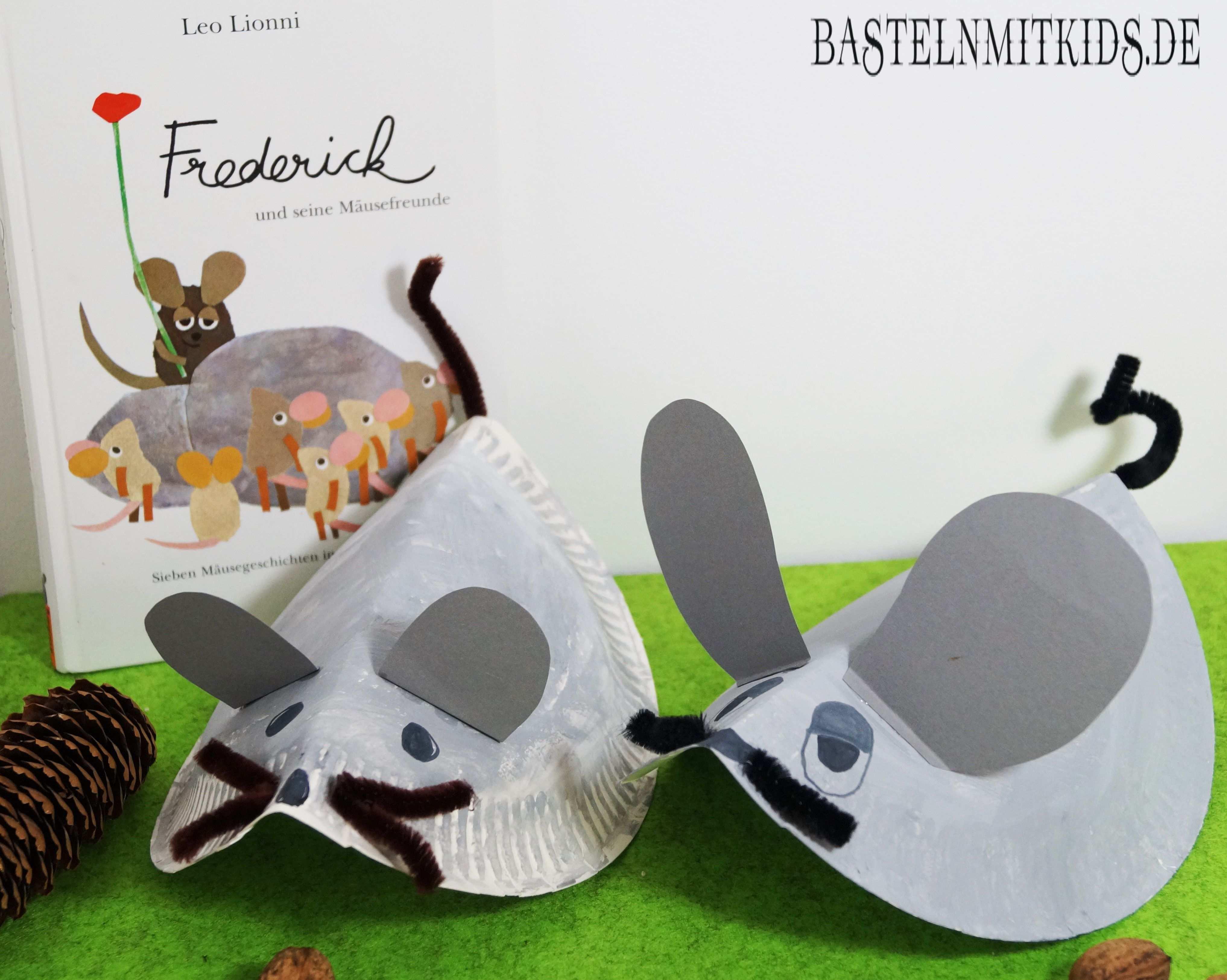 Eine Maus Basteln Mit Papiertellern Basteln Mit Kindern Maus Basteln Basteln Basteln Mit Kindern