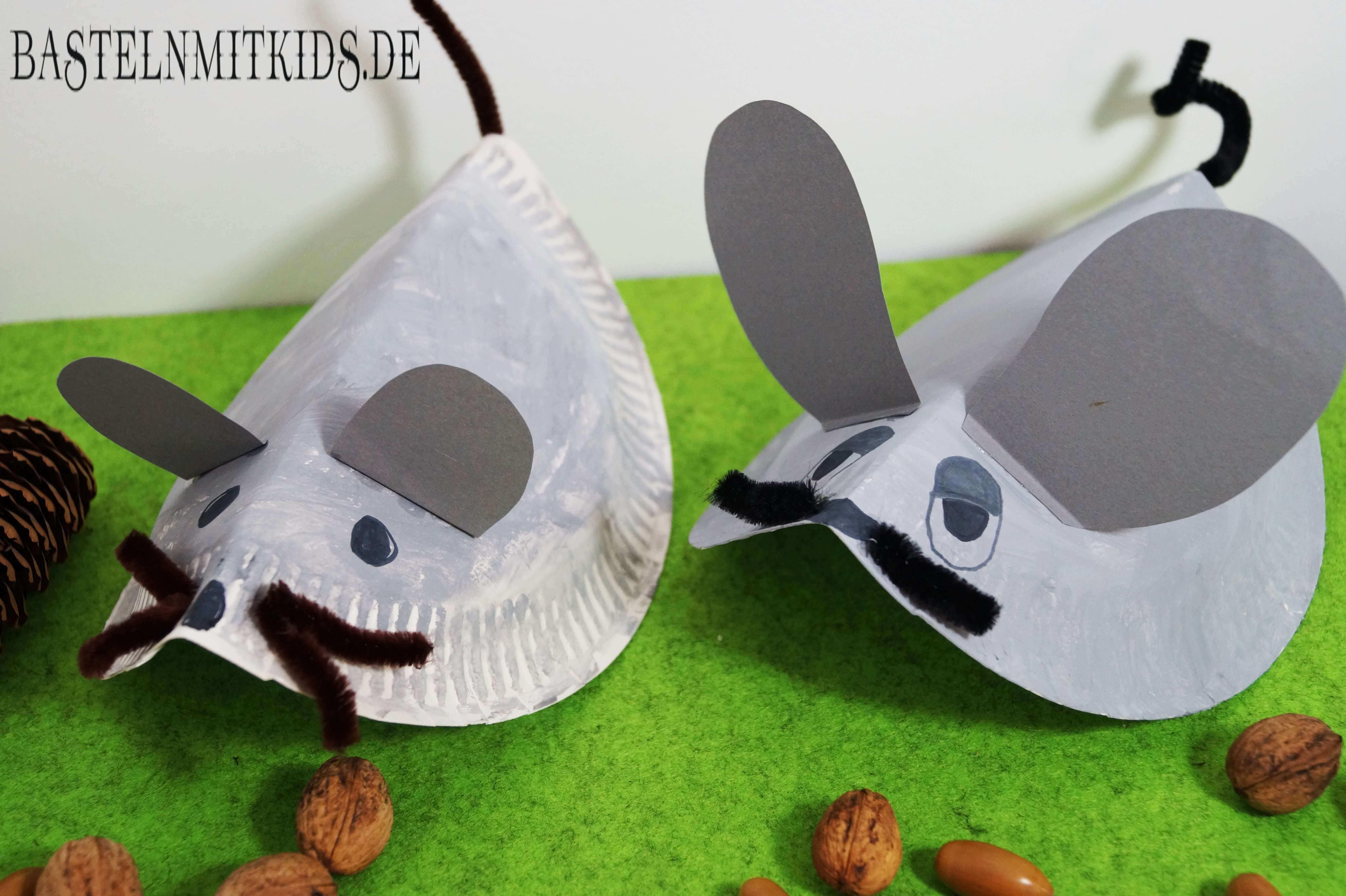 Eine Maus Basteln Mit Papiertellern Basteln Mit Kindern Maus Basteln Basteln Mit Kindern Basteln Mit Pappteller
