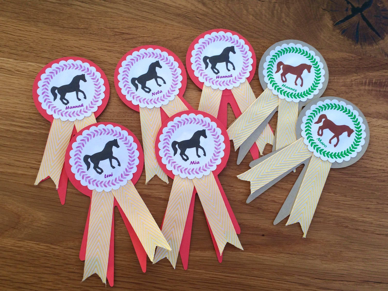 Turnierschleifen Pferdegeburtstag Geburtstag Pferde Plotten Silhouette Einladungskarten Kindergeburtstag Einladungskarte Kinder Kindergeburtstag Pferde