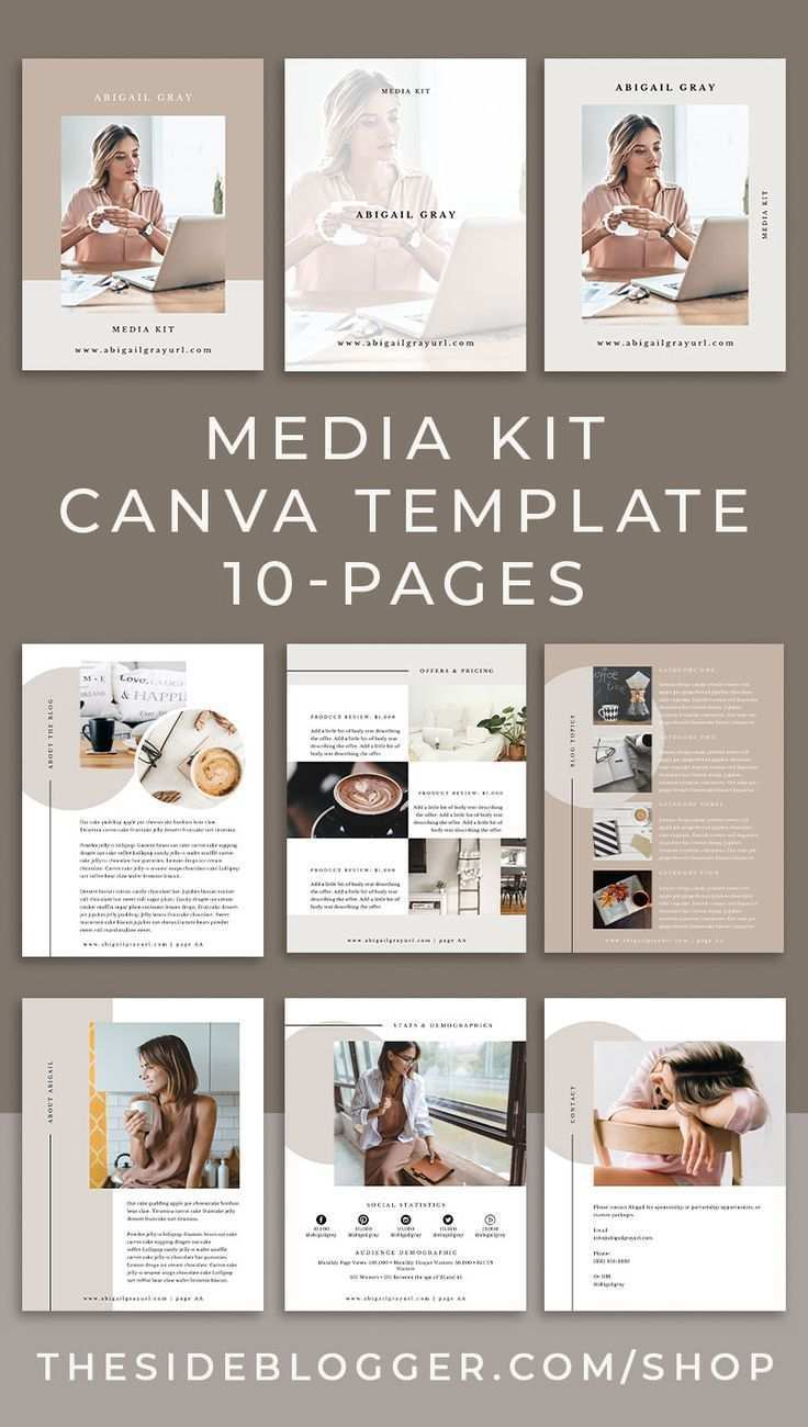 Media Kit Canva Template Abigail The Side Blogger Media Kit Design Media Kit Template Media Kit