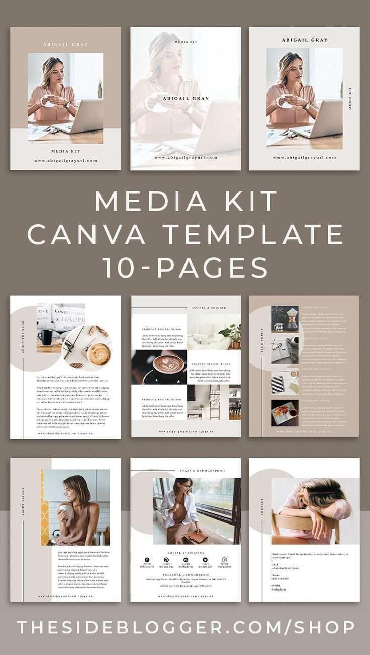 Media Kit Canva Template Abigail The Side Blogger Media Kit Design Media Kit Template Media Kit