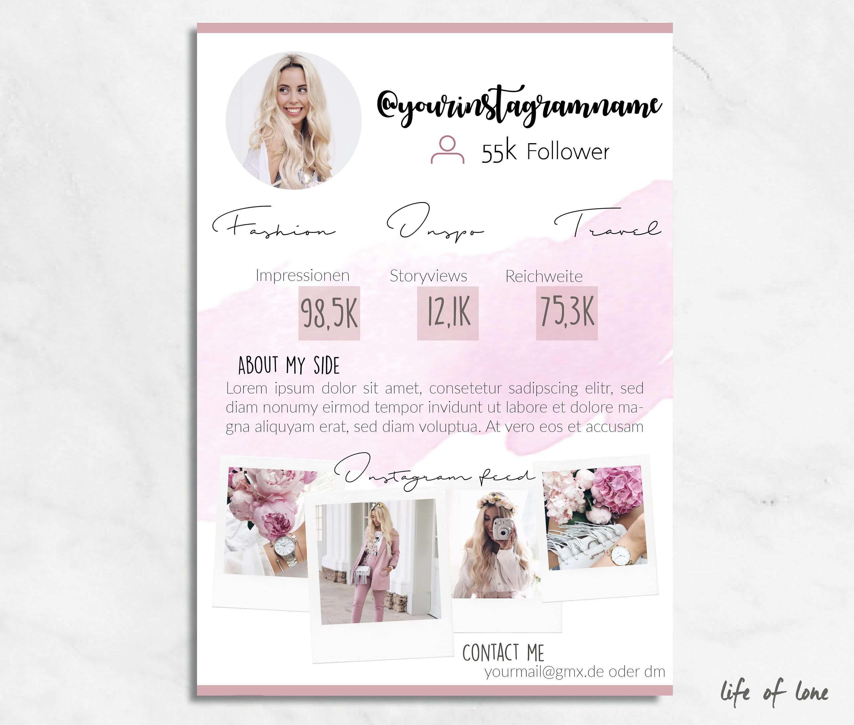 Media Kit Template Instagram Press Kit Instagram Template Indesign Midia Kit Instagram Midia Kit Instagram Dicas