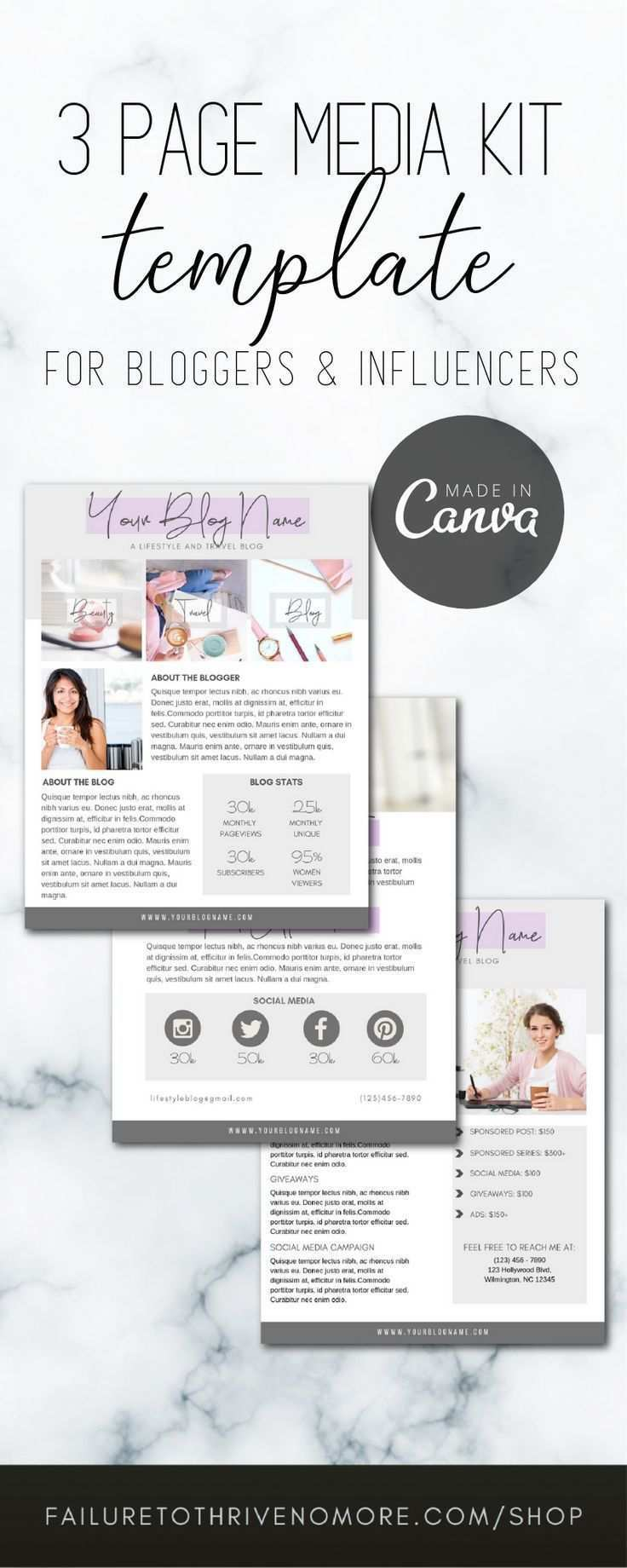 Faves Kit In 2020 Media Kit Template Media Kit Blogger Media Kit