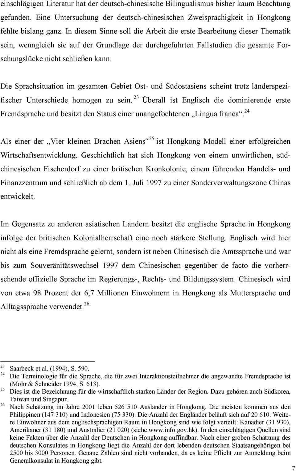 Bilingualer Spracherwerb In Deutsch Chinesischen Familien In Einem Englisch Chinesischen Umfeld Eine Erhebung In Hongkong Pdf Free Download