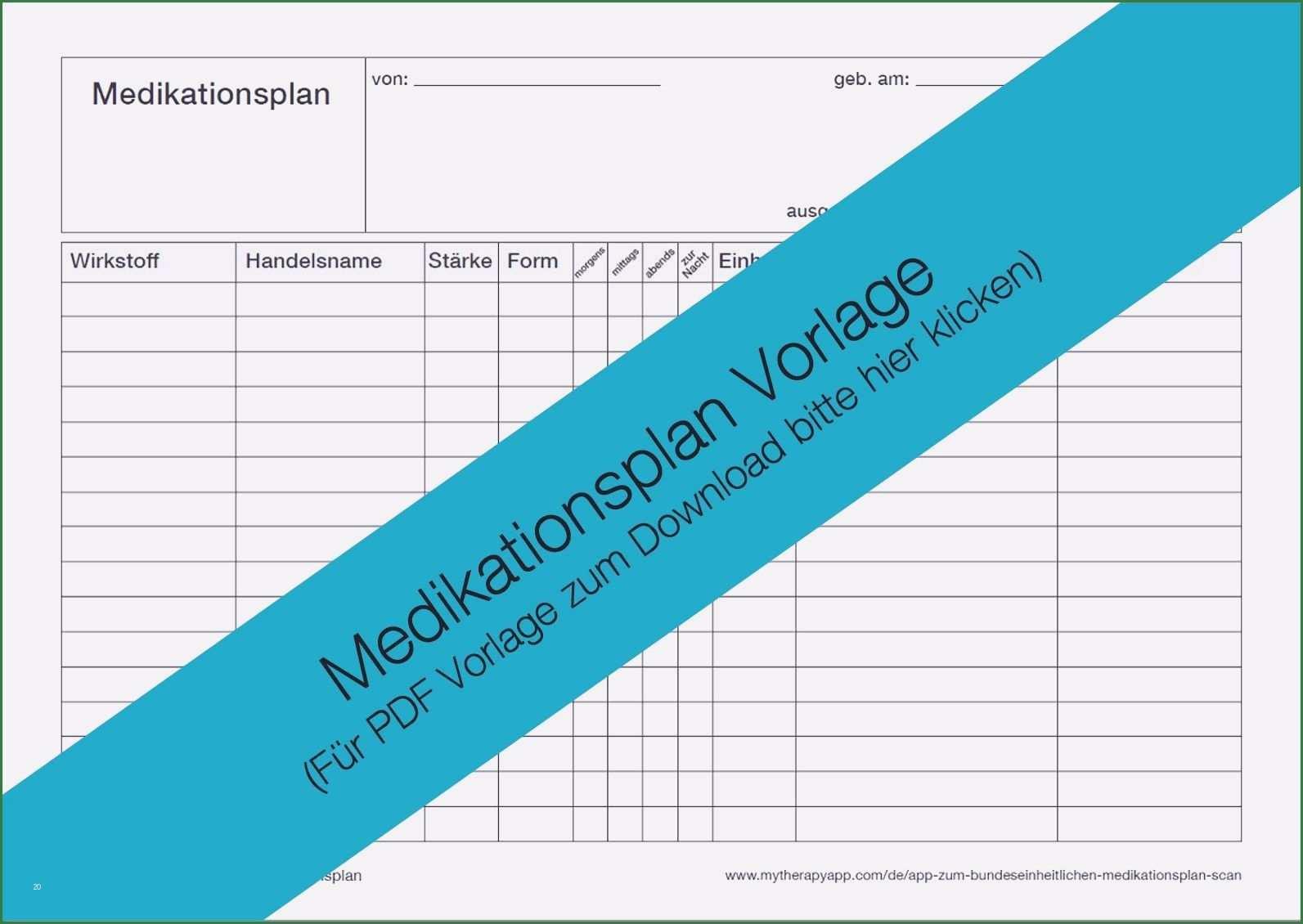 30 Schon Medikamentenplan Vorlage Kostenlos Download Ideen Briefkopf Vorlage Vorlagen Lebenslauf